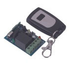 ZnDiy-BRY RF DC12V 1CH Learning Code Remote Control Switch w/ Controller - Black + Silver