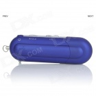 "Portable 1.2"" TFT USB Digital MP3 Player w/ FM - Blue (8GB / 1 x AAA)"