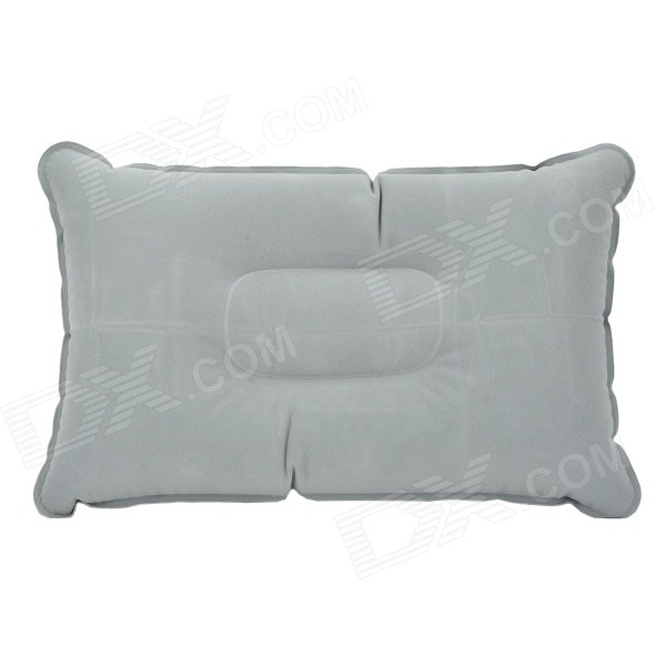 Outdoor Inflatable Rectangle Flocking Pillow - Grey