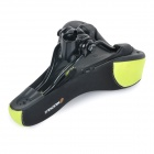 NUCKILY S003 Outdoor Cycling Ventilate Breathable Lycra + Silicone Bike Saddle - Green + Black