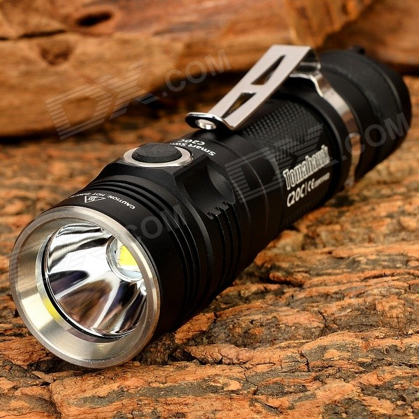 Sunwayman C20C 620lm White + Cool White Light 3-Mode LED Flashlight - Black (1 x 18650)