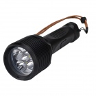 SingFire SF-921 3800lm 3-Mode White LED Diving Flashlight w/ Car Charger - Black (2 x 26650)