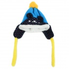 Children's Panda Style Super Soft Autumn / Winter Wear Cap + Scarf Set - Blue