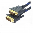 Yellow Knife Y501 DVI-D To DVI-D 24+1 Pin Gold Plated Cable - Black + Blue (1.8m)