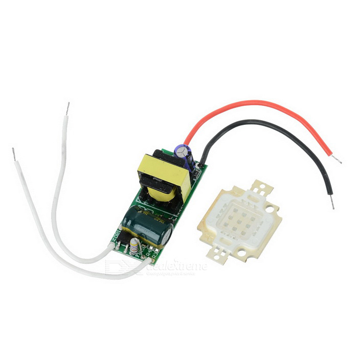 JRLED 10W 200lm 465nm Blue Light LED Emitter w/ Power Supply Driver Board