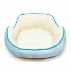 YDL-WJ4004-M Fashionable Waves Style Bed for Pet Cat / Dog - Blue + Multi-Colored (M)