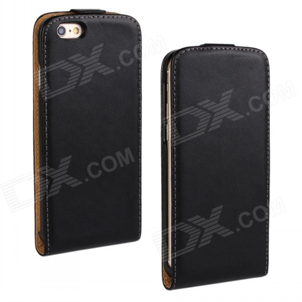 Business Style Protective Top Flip-Open Case for IPHONE 6 - BlackLeather Cases<br>Form  ColorBlackBrandN/AModelN/AQuantity1 DX.PCM.Model.AttributeModel.UnitMaterialSecond layer sheepskinCompatible ModelsIPHONE 6StyleFlip OpenDesignSolid ColorAuto Wake-up / SleepNoPacking List1 x Case<br>