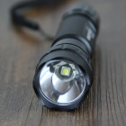 FandyFire WF-501B L2 LED 1000lm 1-Mode White Flashlight w/ Strap - Black (1 x 18650)