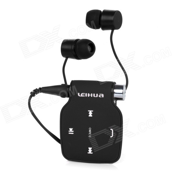 LB01 NFC Bluetooth V3.0 Stereo In-Ear Sports Headsets Earphones w/ Call Function - Black