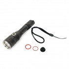 JETBeam DDC25 600lm 3-Mode Cool White LED Tactical Flashlight - Black (1 x 18650)
