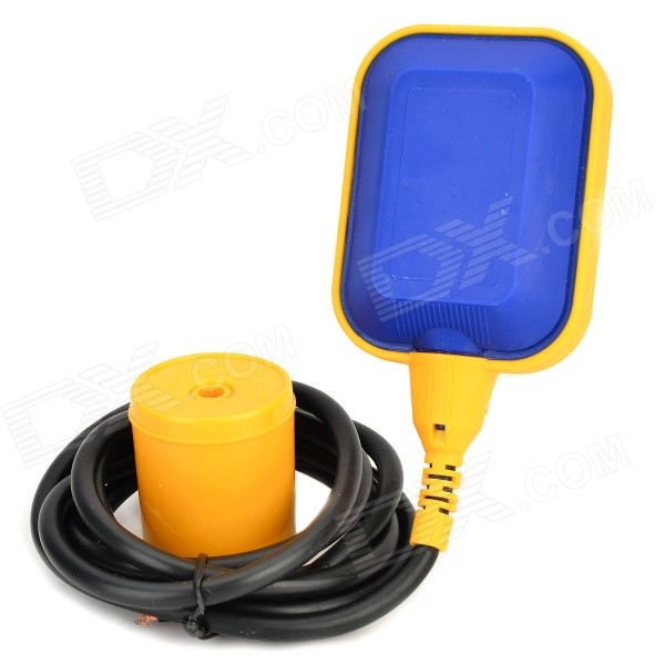 Liquid Fluid Water Level Controller / Float Switch - Blue + YellowGadgets<br>Form  ColorBlue + YellowBrandN/AQuantity1 DX.PCM.Model.AttributeModel.UnitMaterialPlasticRate Voltage12~380VCurrent8 DX.PCM.Model.AttributeModel.UnitEnglish Manual / SpecYesBattery included or notNoOther FeaturesWire length: 194cmPacking List1 x Float switch1 x English user manual1 x Counterweight<br>