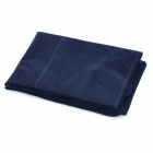 Outdoor Camping Rectangle Flocked air coussin gonflable Coussin - Deep Blue