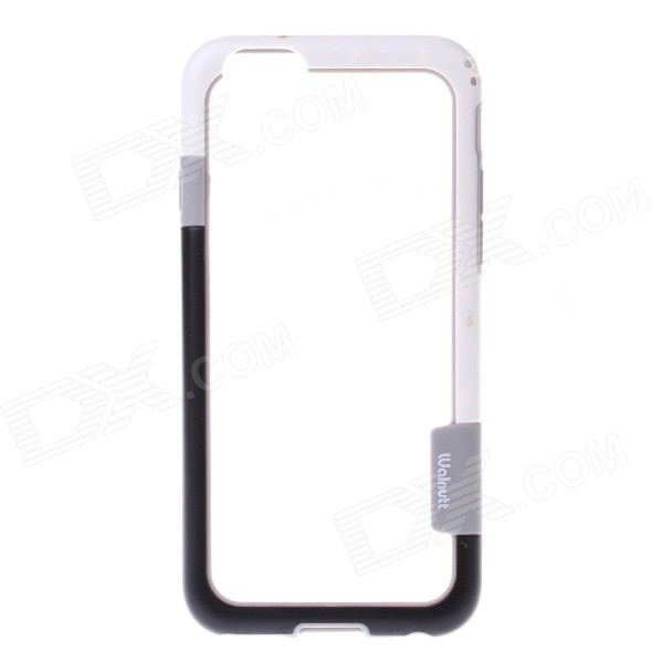 "Flexible Plastic Bumper Frame Case for IPHONE 6 4.7"" - Black + Grey + White"