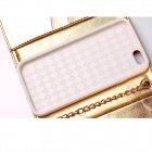 Metal Chain Fashion Handbags PU and TPU Full Body Case with Card for IPHONE 6 Plus - Gold