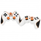 Dual-Shock-Bluetooth-V30-Controller-Gamepad-Joypad-for-PS3-PS3-Slim-White-2b-Orange-(2-PCS)