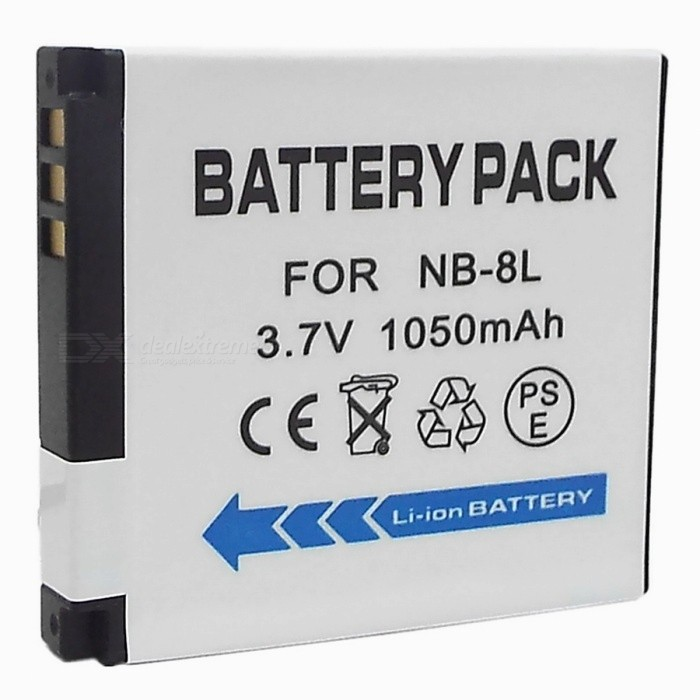 NB-8L Compatible 3.7V 1050mAh Battery Pack for Canon A3000/A3100