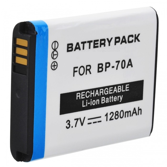 BP70A 3.7V 1280mAh Battery Pack for Samsung ES65 / ES70 / TL105 / TL110 / PL100 - White