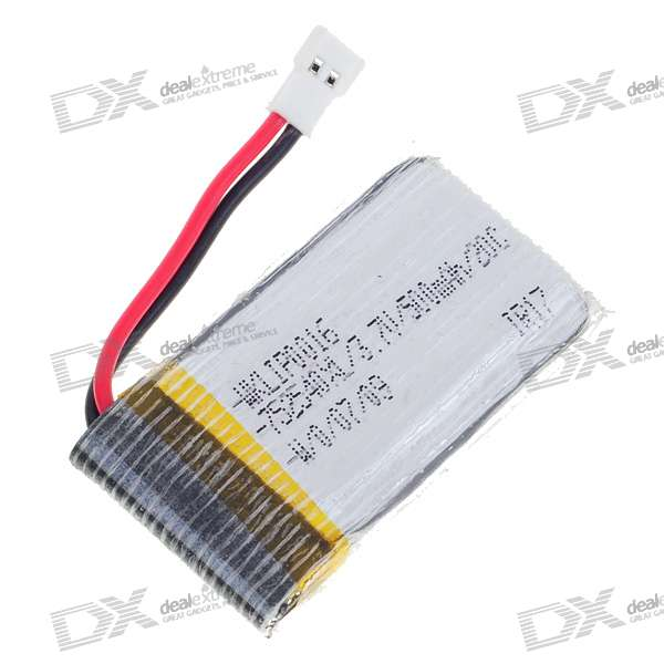 3.7V 500mAh 20C Battery for RC Helicopter - White
