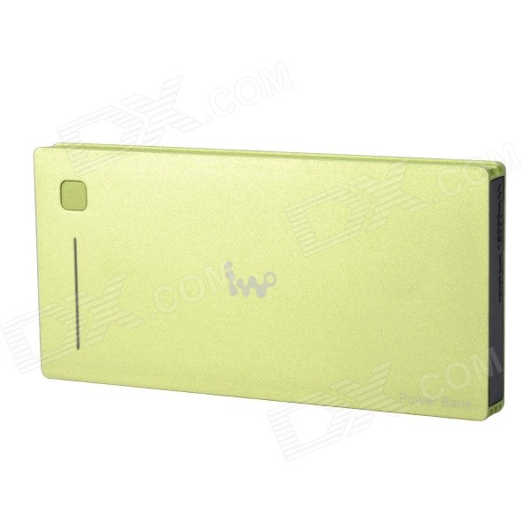 IWO P40 12000mAh Alluminum Alloy Polymer Power Bank w/ Dual-USB for Mobile Devices