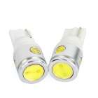 T10 1W+3W 12V White Light LED Car Turning Signal Light Bulbs (2-Pack)