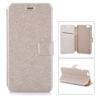Flip-Open Protective PU Leather Full Body Case with Stand for IPHONE 6 PLUS - Gold