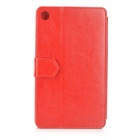 "Stylish Classic Protective Flip-Open PU Leather Case w/ Stand for Google Nexus 7 II 7"" Tablet - Red"