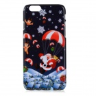 Christmas Eve Cartoon Patterned Protective PC Back Case Cover for IPHONE 6 - White + Red