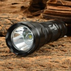 Ultrafire 502B-LZZ 600lm 5-Mode Cool White Light LED Flashlight w/ Clip - Black (1 x 18650)