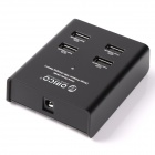 ORICO DUB-4P-BK 4-Port USB 2.4A Super Charger for Tablet PC / Cellphone - Black (US Plugs)