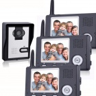 "KX3501-1V3 3.5"" LCD Wireless Video Door Phone 1 Camera + 3 Monitors Set - Blackish Grey"