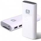 Newmine U100 Universal Double USB Output 10000mAh Liquid Lithium-ion Mobile Power Bank - White