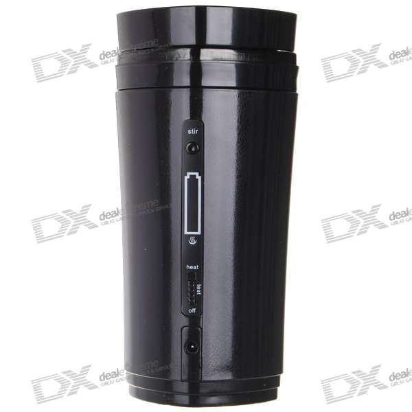 Usb Rechargeable Heated Warmer Coffee Mug Cup With Automatic Stirring Black