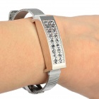 Fashion Rhinestones Decorated USB 2.0 Flash Drive Bracelet - Silver (8GB)