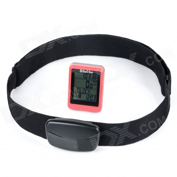 BIKEVEE BKV-9100H Multi-Functional 1.7quot Screen Wireless Bike Computer w/ Heart Rate Function