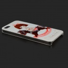 Cute Girl on Horse Cartoon Patterned Protective Plastic Back Case for IPHONE 5 / 5S - White + Pink