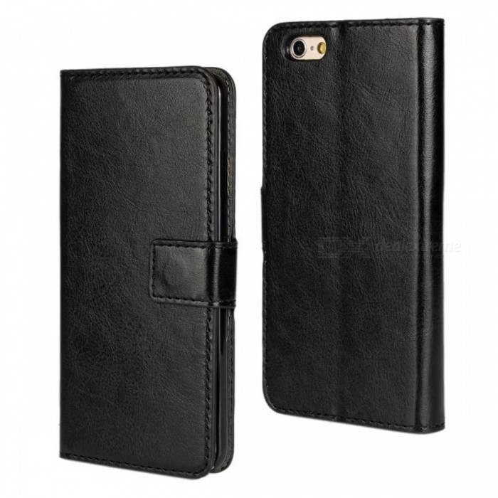 "Angibabe Cross Pattern PU Leather Flip Open Case w/ Card Slot for IPHONE 6 4.7"" - Black"