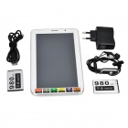 "P9 7"" Android 4.2 Dual-Core Tablet PC w/ 4GB ROM / GPS / Wi-Fi / FM / Bluetooth - White (EU Plug)"