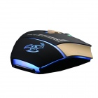 Sunsonny CCDY90C2 6-Button 600 / 1000 / 1600DPI USB Wired Professional Gaming Mouse - Black