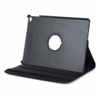 Protective Flip-Open PU Case Cover w/ 360' Rotary Stand for IPAD AIR 2 - Black