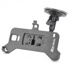 Bendable Car Mount Holder w/ Suction Cup for Samsung Galaxy Note 4 / N9100 - Black