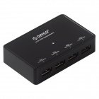 ORICO DCP-4S-BK 4 x 2.4A 4-port USB Output Super Charger for Tablet PC / Cellphone - Black (US Plugs)