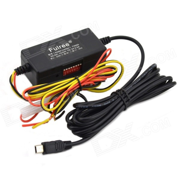 12V to 5V Car Power Inverter Converter - BlackCar Power Inverters<br>Form  ColorBlackBrandJtronModelN/AQuantity1 DX.PCM.Model.AttributeModel.UnitMaterialPA66Input VoltageOthers,8~30 DX.PCM.Model.AttributeModel.UnitSocket Output Voltage5 DX.PCM.Model.AttributeModel.UnitSocket Output Current2.5 DX.PCM.Model.AttributeModel.UnitUSB Output Voltage5 DX.PCM.Model.AttributeModel.UnitOutput CurrentNo DX.PCM.Model.AttributeModel.UnitContinuous Output Power100 DX.PCM.Model.AttributeModel.UnitPeak Output Power100 DX.PCM.Model.AttributeModel.UnitWaveform TypeOthers,N/AOutput SocketNoConversion Efficiency90%Output FrequencyNoOver Voltage ProtectionYesLow-voltage ProtectionYesOvertemperature ProtectionYesIndicator LightYesPower CableInput cable length: 1 mApplicationGPS NavigatorOperating Temperature-20~+70 DX.PCM.Model.AttributeModel.UnitPacking List1 x Converter (input cable length: 1 m / output cable length: 2m)<br>