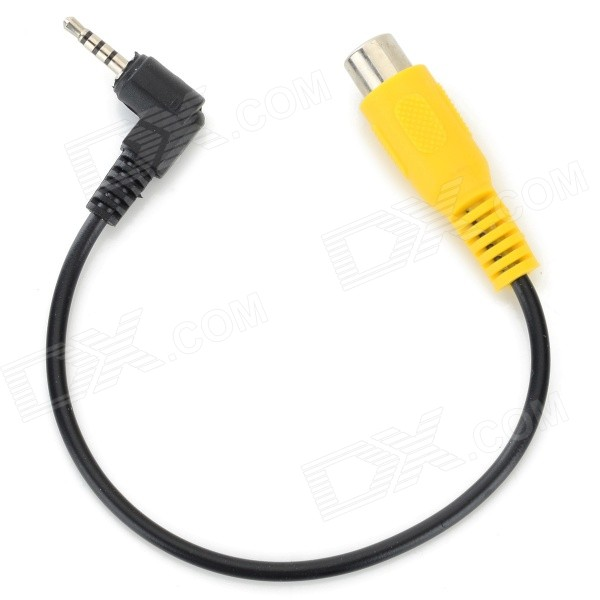 2 5mm Male To Rca Female Adapter Cable For Gps Av In Black