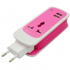 2.1A adaptador de corriente USB Dual w / 3-pin Socket para IPHONE / IPAD + Más (UE Plug / 100 ~ 240V / 150cm)