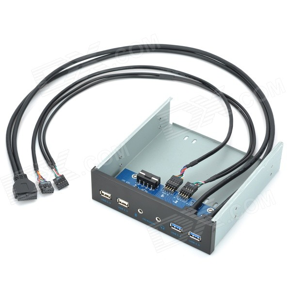 19-pin to USB 2.0 / USB 3.0 CD-ROM Expansion Mobile Rack w/ HD Audio ...
