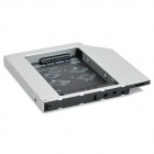 Ultra-Slim 9.5mm IDE to SATA Laptop Optical Drive 2nd HDD Holder - Silver + Black