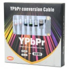 YPbPr + R/L to HDMI 1080P Converter Adapter Cable - Black + Multi-Color (3M)