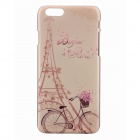 "Romantic Paris Pattern Relievo Protective PC Back Cover Case for IPHONE 6 4.7"" - Beige + Pink"