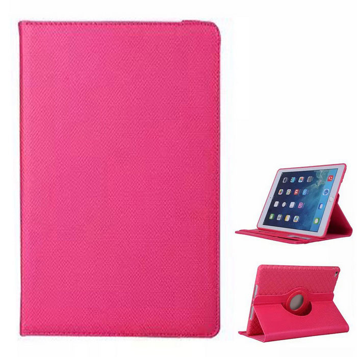 Protective TPU Case w/ Card Slot / 360 Degree Rotational Stand for IPAD AIR 2 - Deep PinkIpad Cases<br>Form ColorDeep PinkQuantity1 DX.PCM.Model.AttributeModel.UnitMaterialOthers,Nylon quilted + TPUShade Of ColorPinkCompatible ModelsIPAD AIR 2DesignSolid Color,Others,Elastic band designTypeFull Body CasesAuto Wake-up / SleepNoOther FeaturesProtects the device from dust, shock and scratches. 360 degree rotational back case as a stand for better viewing.Packing List1 x Case<br>