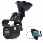 "FM09 0.7"" Screen Car Digital Cellphone / GPS Navigator Holder w/ FM Transmitter / Hands-free Calls"